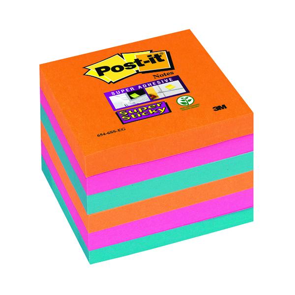 Post-it Super Sticky Notes 76x76mm Bangkok (Pack of 6) 654-6SS-EG