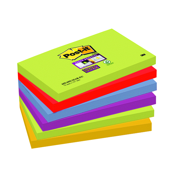 Post-it Super Sticky 76x127mm Marrakesh(Pack of 6)654-6SS-MAR-EU