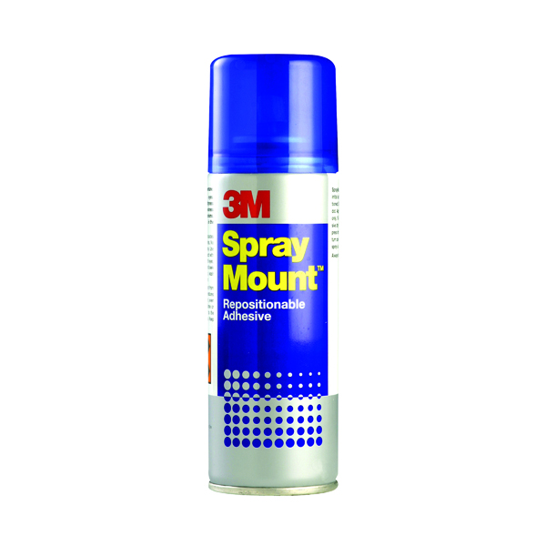 3M SprayMount Transparent Repositioning Adhesive 400ml SMOUNT