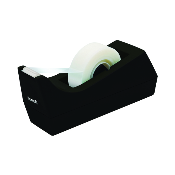 Scotch Non-Slip Desktop Tape Dispenser Black Plastic C38