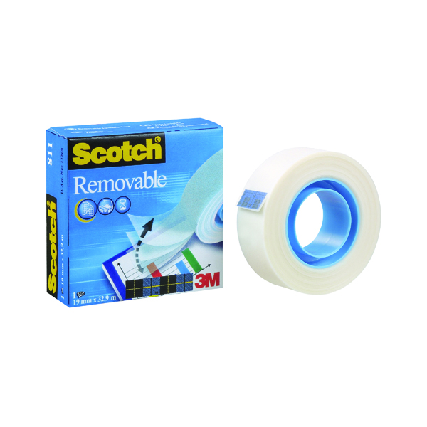 Scotch Removable Magic Tape 811 19mm x 33m 8111933