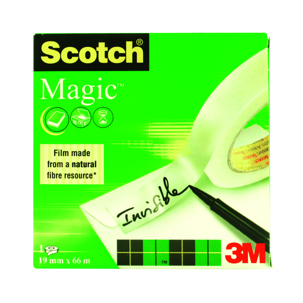 Scotch Magic Tape 810 Solvent-Free 19mmx66m Transparent 8101966