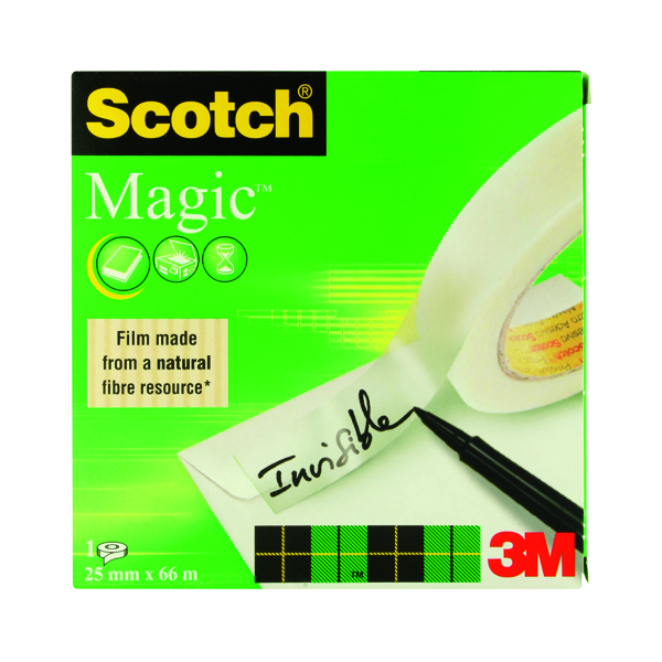 Scotch Magic Tape 810 Solvent-Free 25mmx66m Transparent 8102566