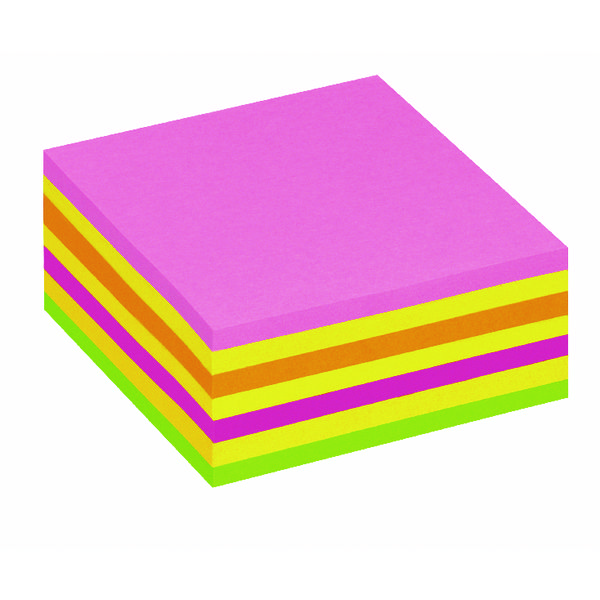 Image for Post It Neon Pink Rainbow Cube Hanging Flow Wrap 325 Sheet Cube 2014LP