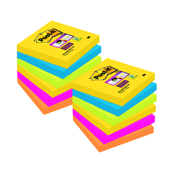 3M Post-it Super Sticky Notes 76x76mm Rio Assorted Buy 2 Get 1 Free