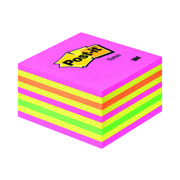 Post-it Note Sticky Notes Cube 76x76mm Neon 350 Sheets 2028NP