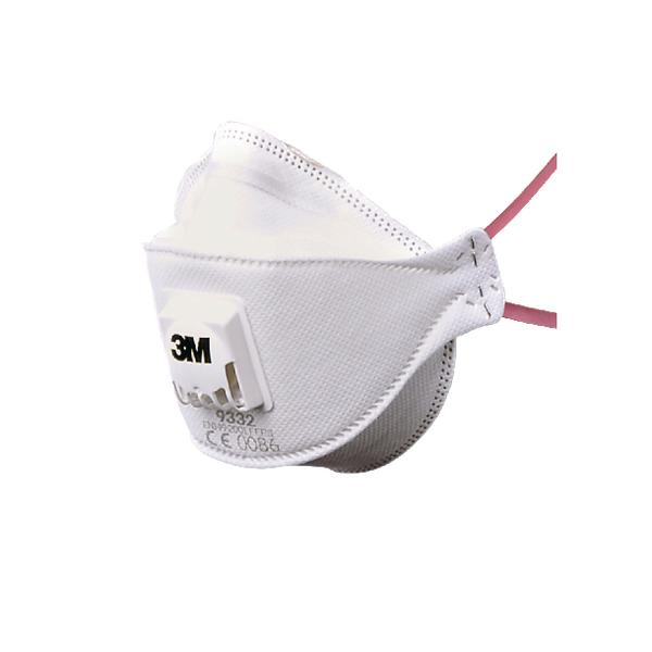 3M Flat Folded Valved Respirator FFP3 9332 Plus XA004837747