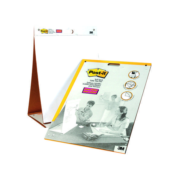 Post-it Table Top Easel Refill Pad Plain White 563R