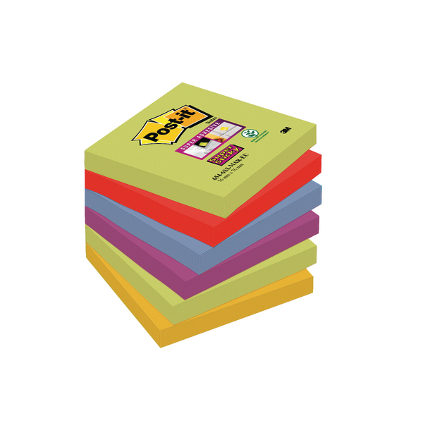 Post-it Super Sticky 76x76mm Marrakesh (Pack of 6) 654-6SS-MAR-EU