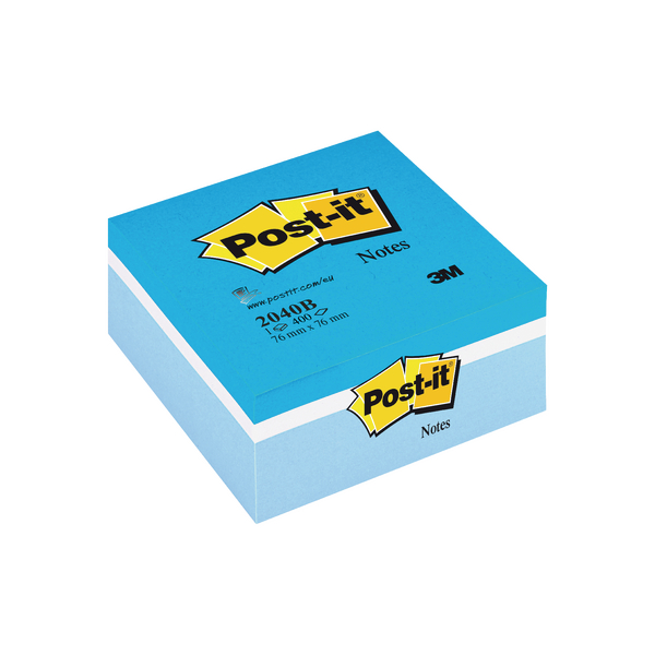 Image for Post-it Note Colour Cube 76 x 76mm Blue 400 Sheets 2040B