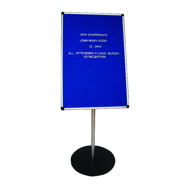 Announce Groove Letter Board with 1100mm Stand 900x600mm