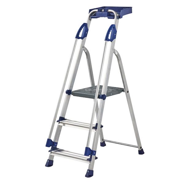 Werner Blue Seal 3 Tread Professional Aluminium Step Ladder 7050318