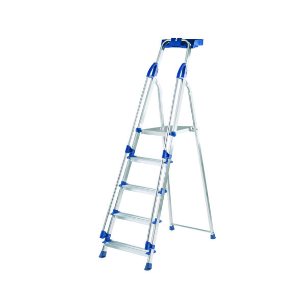 Werner Blue Seal 5 Tread Professional Aluminium Step Ladder 7050518