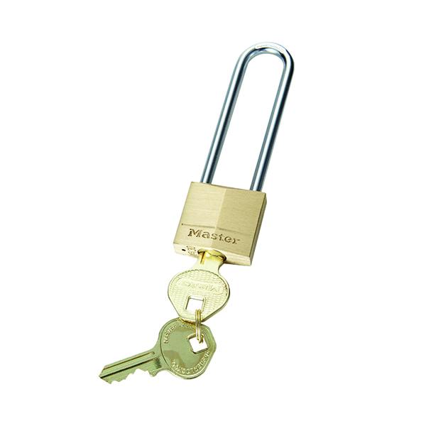 Master Lock 30mm Solid Brass Padlock 64mm Shackle 130EURDLJ