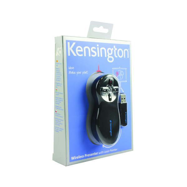 Kensington Wireless Presenter Red Laser Black/Chrome 33374EU