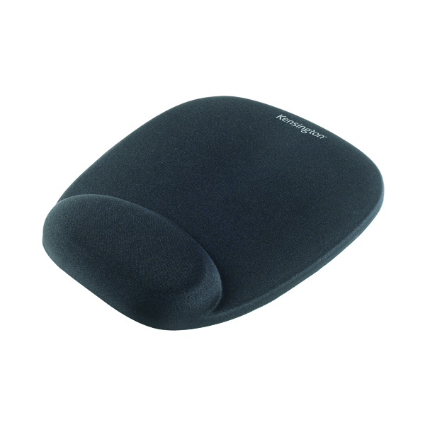 Kensington Foam Mouse Pad Black with Cushioned Wrist Rest 62384
