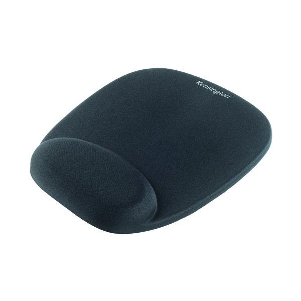 Kensington Foam Mouse Pad Black with Cushioned Wrist Rest 62384