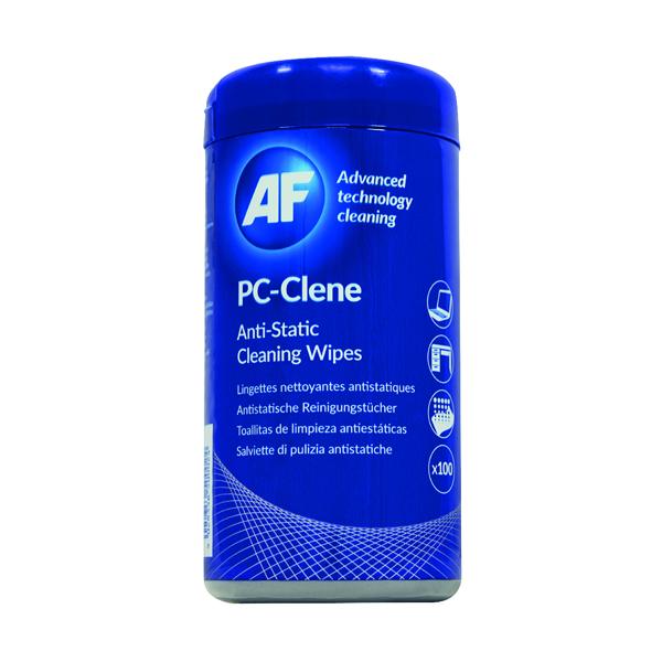 AF PC-Clene Anti-Static Cleaning Wipes Tub (Pack of 100) PCC100