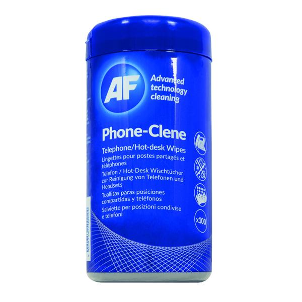 AF Phone-Clene Telephone Wipes Tub (Pack of 100) APHC100T