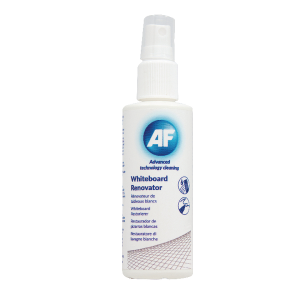 AF Whiteboard Renovating Solution 125ml (Effectively removes ghosting fro whiteboards) AWBR125