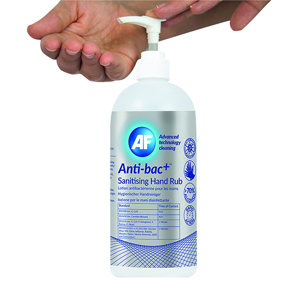 Anti-Bac Sanitising Hand Rub (Pack of 6) ABHHR500_6