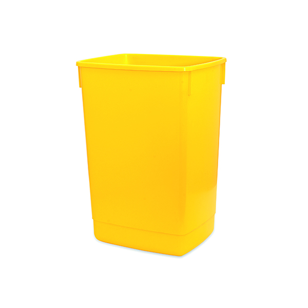Addis 60 Litre Flip Top Bin Yellow Base 510901