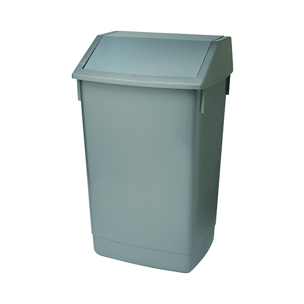 Addis Fliptop Bin 60 Litre Metallic Grey (Heavy duty commerical quality)