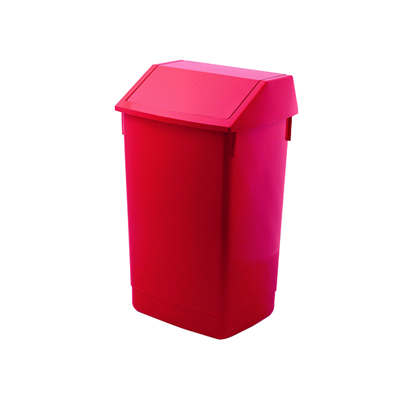 Addis Fliptop Bin 60 Litre Red