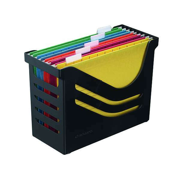 Image for Jalema Recycled Office Box with 5 Suspension Files A4 Black A658026998