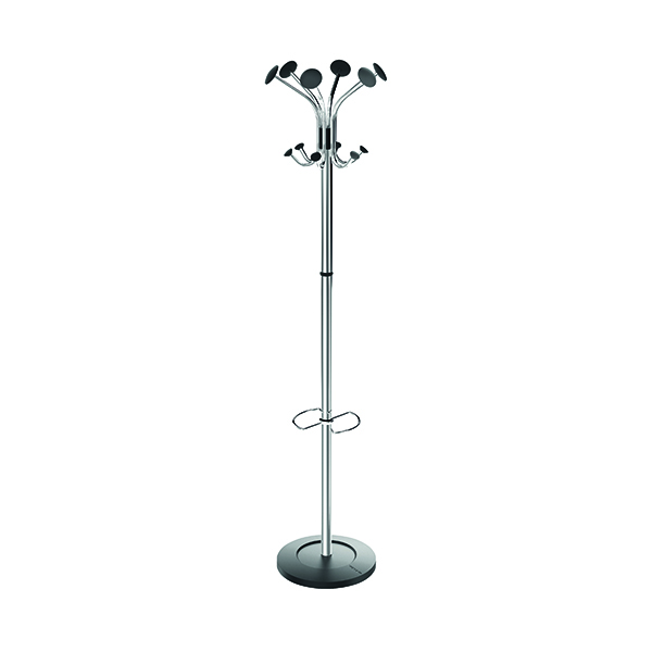 Image for Alba Chromy Coat Stand Chrome/Black PMCLASS