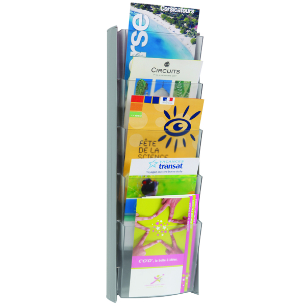 Image for Alba Wall Display Unit 5 Pocket A5 Metallic DDPROMMM