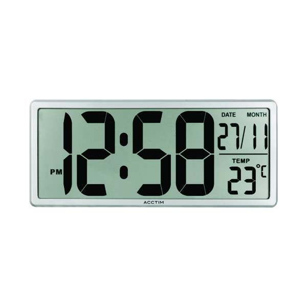 Acctim Date Keeper Jumbo LCD Wall/Desk Clock with Autoset 22357