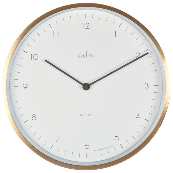 Image for Acctim Bronx 30cm Wall Clock Brass 29458