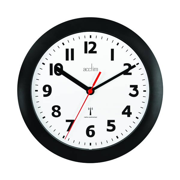 Acctim Parona Wall Clock 230mm Black 74313