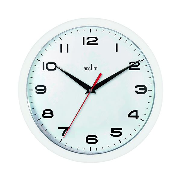 Acctim Aylesbury Wall Clock White 92/301