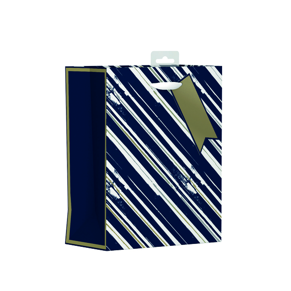 Giftmaker Vertical Stripe Gift Bag Medium (Pack of 6) MGSM