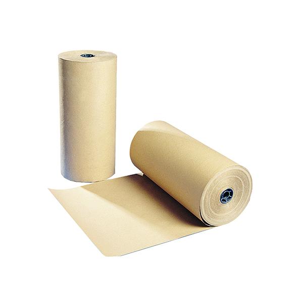 Polythene Coated Kraft Paper Roll 900mmx100m Brown 70080