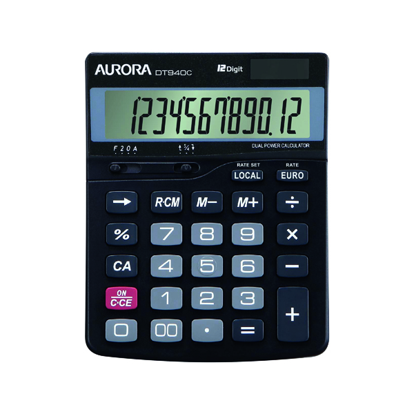 Aurora DT940C 12 Digit Semi Desktop Calculator DT940C
