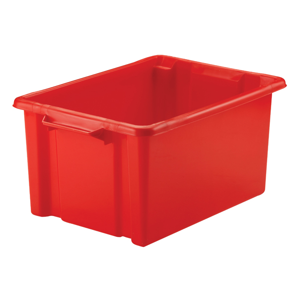 Strata Maxi Storemaster Crate 32L Red HW046-RED