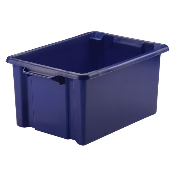 Strata Storemaster Maxi Crate 32L Blue (Stackable and easy to clean) HW046-Blue