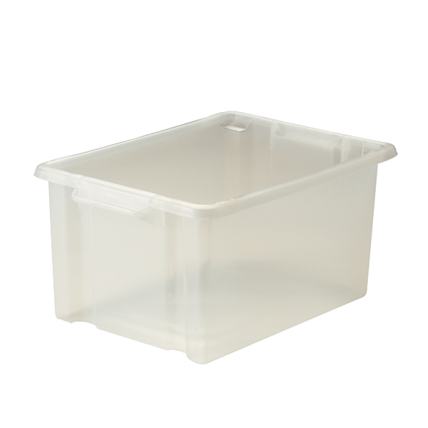Strata Maxi Storemaster Box 32L Clear (Stackable and easy to clean) HW046-CLEAR