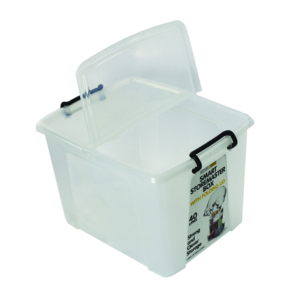Strata Smart Box 40 Litre Clear (Exterior W395 x D500 x H320mm) HW674