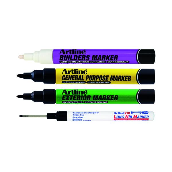 Artline EKPRW4 Builders Marker Kit (Pack of 4) EKPR BUILDERS W4