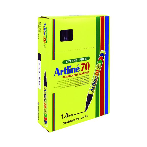 Image for Artline 70 Bullet Tip Permanent Marker Black (Pack of 12) A701