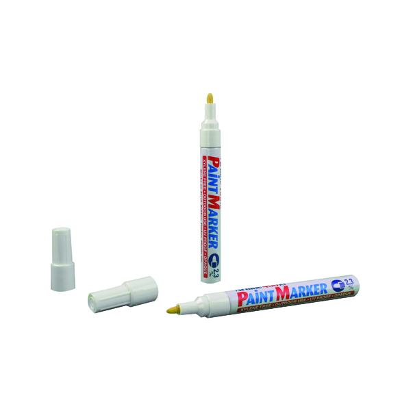 Artline 400 Bullet Tip Paint Marker Medium White (Pack of 12) A400