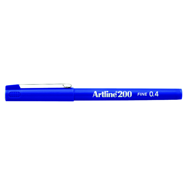 Artline 200 Fineliner Pen Fine Blue (Pack of 12) A2003
