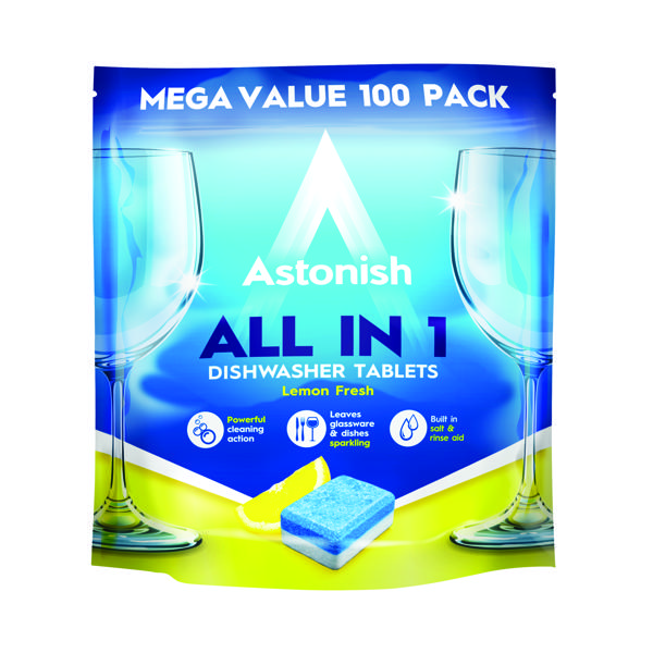 Astonish All in 1 Dishwaster Tablets Blue (Pack of 100)