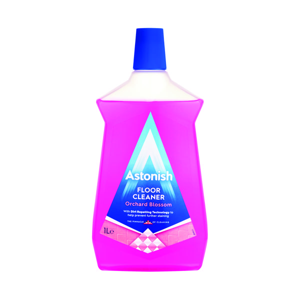 Astonish Orchard Blossom Floor Cleaner 1L Pink (Pack of 12)