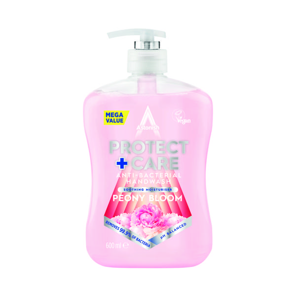 Astonish Anti Bac Handwash 650ml Peony Pink (Pack of 12)