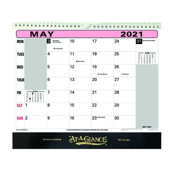 At-A-Glance Flip Over Wall Calendar 2021 90M21